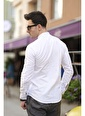 Oksit Sorte 1087 Extra Slim Fit Keten Erkek Gömlek Beyaz